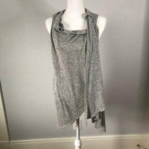 Olivia Sky Multi Wear Sleeveless Gray Cardigan